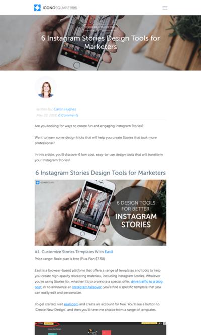 図6 Instagramのストーリーズ用の画像や動画をデザインするためのツールいろいろ